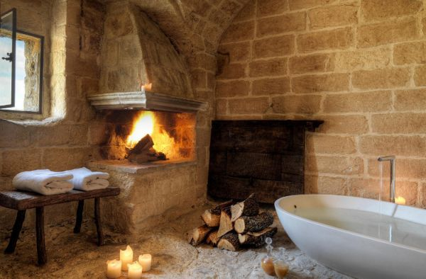 A hotel in the caves of Matera.