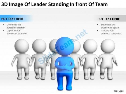 3D Image of Leader Standing In Front of Team Ppt Graphics Icons Powerpoint #Powerpoint #Templates #Infographics