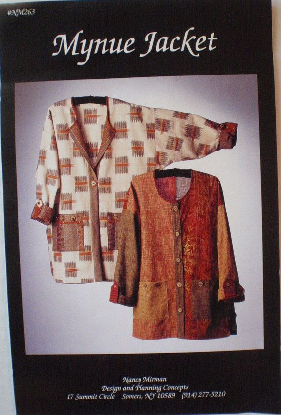 Independent Sewing Pattern - Mynue Jacket by Nancy Mirman - Sizes XS ...