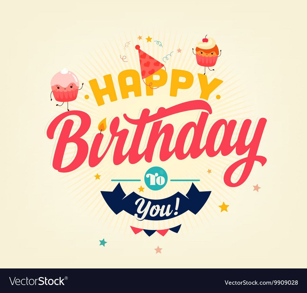 Happy Birthday Banner Royalty Free Vector Image , #Aff