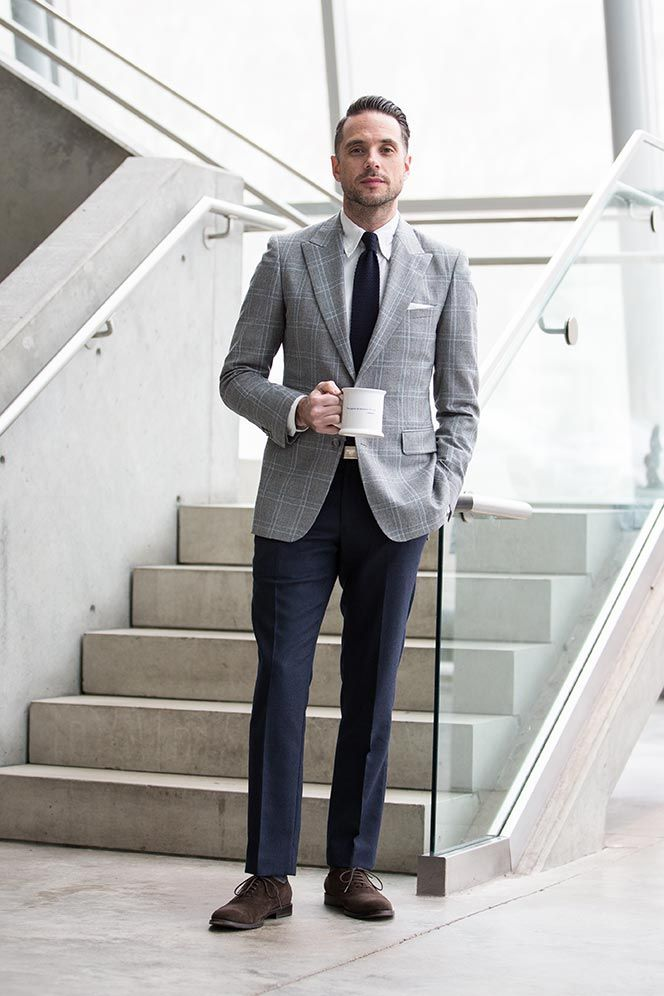 Mens Plaid Blazer Business Casual Outfit Ideas For Spring | FashionKilla Styles For Hubby ...