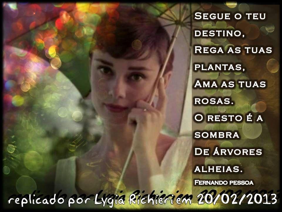 20 de fevereiro de 2013 Segue o teu destino, rega as tuas plantas, ama as tuas rosas. O resto é a sombra de árvores alheias. P A T C H W O R K *d a s* I D E I A S