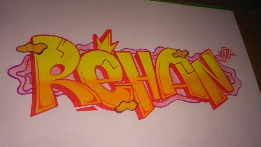 Gambar Grafiti 3d Unik Font Tulisan Nama Dan Cara Mudah