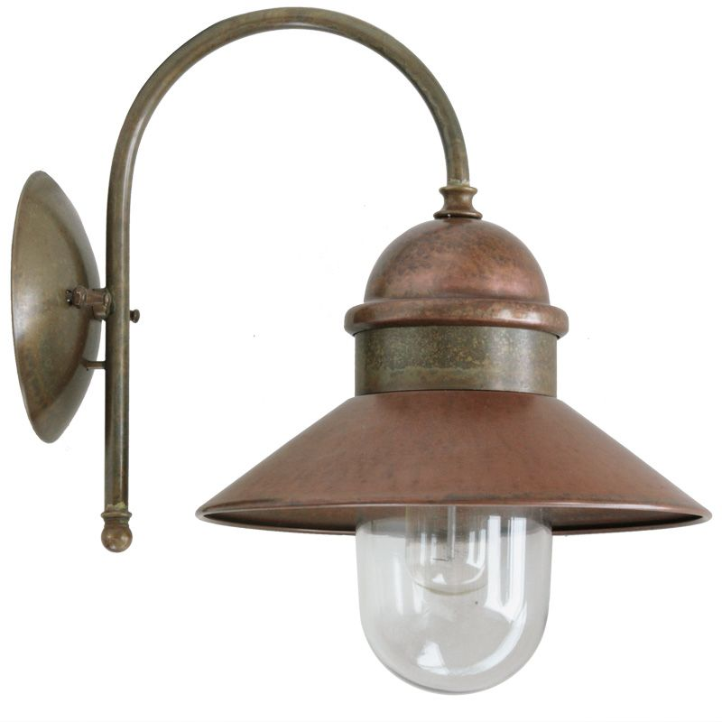 Wandleuchte Mediterran venetian outdoor copper wall light il borgo 244 26 or mediterrane