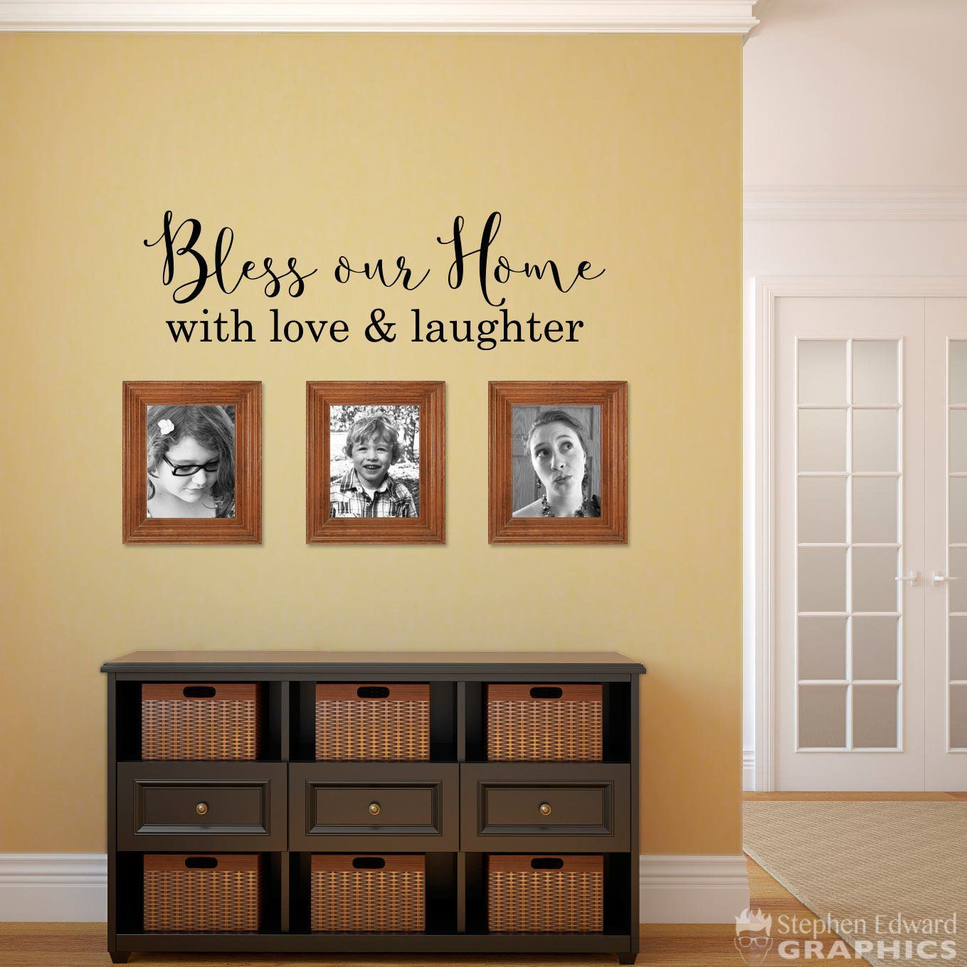 Bless our Home with love & laughter Decal - Home Wall Decal - Bless ...
