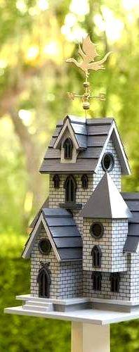 dragon castle birdhouse home decor idea affiliate outdoor backyard decoration