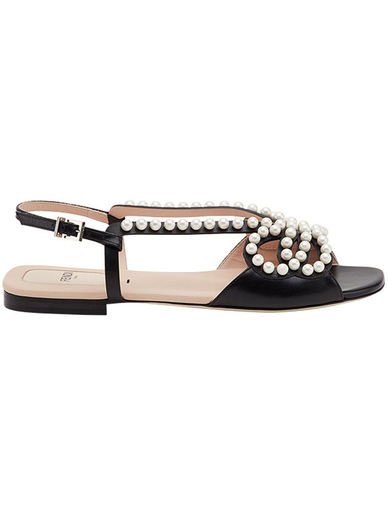 4199000e55b  fendi  shoes   Pearl Sandals