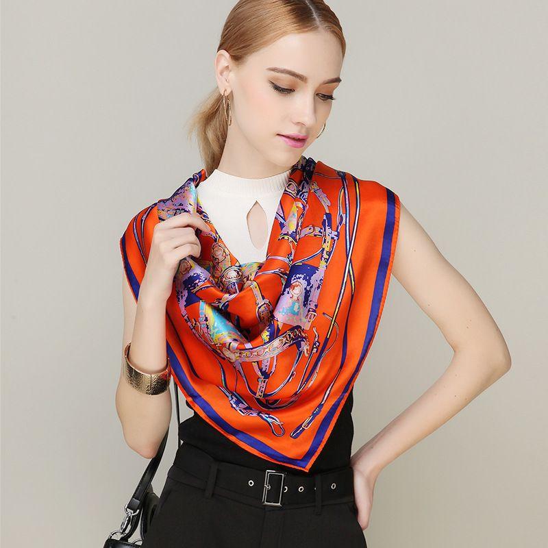 [DANKEYISI] Bufandas Diseñador de la Marca de Verano Las Mujeres 100% Bufanda de Seda de la Marca de Lujo Bufandas Del Mantón de Hijab Cuadrado Grande de la Bufanda 90*90 cm en Bufandas de Ropa y Accesorios de las mujeres en AliExpress.com | Alibaba Group