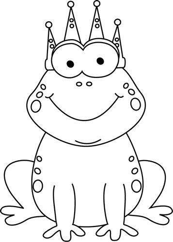 Clip art black and white black and white frog prince clip art image black and white cartoon