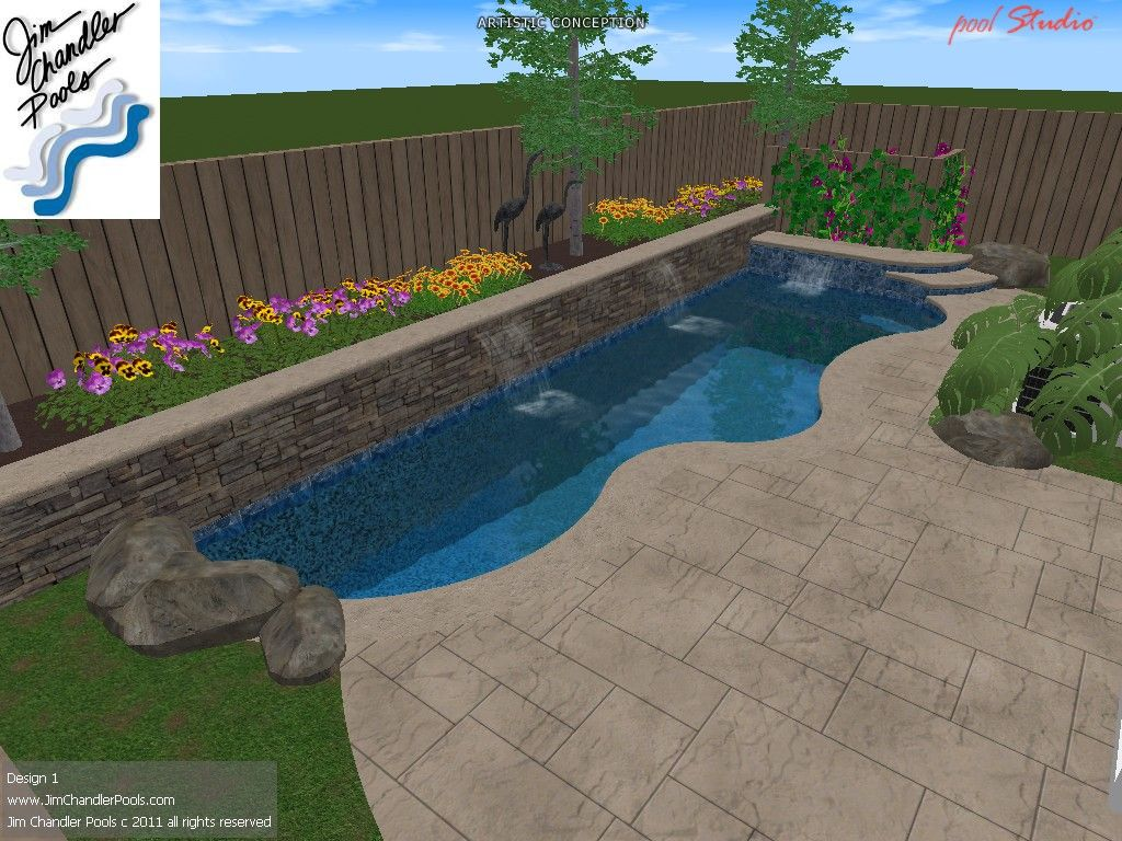 swimming pool design lots of different layouts jim chandler pools small yard - Swimming Pool Designs Small Yards