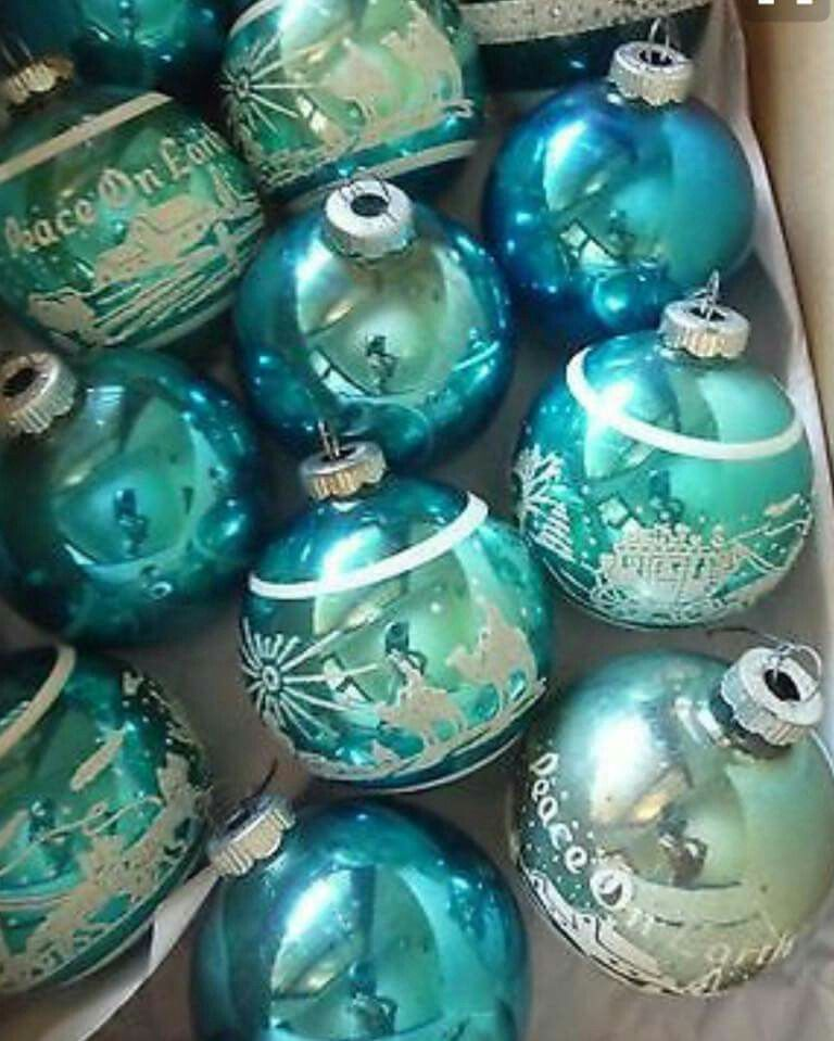 Turquoise And White Christmas Tree: Turquoise/Teal Vintage & Christmas = Heaven! …