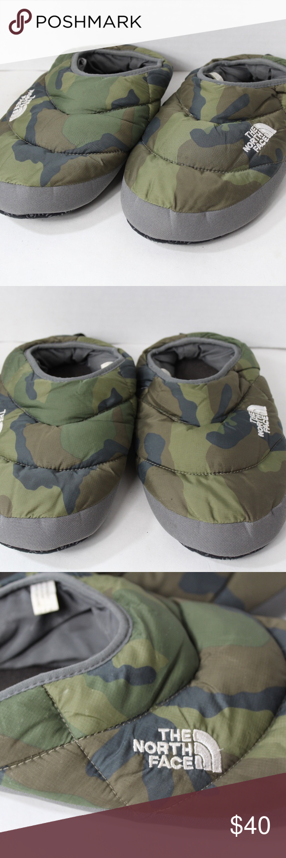 6cd1350e0 The North Face Mens Medium Goose Down Slippers The North Face Tent ...