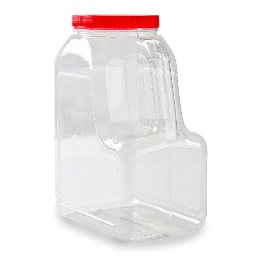 Choice 5 lb rectangular plastic spice storage general