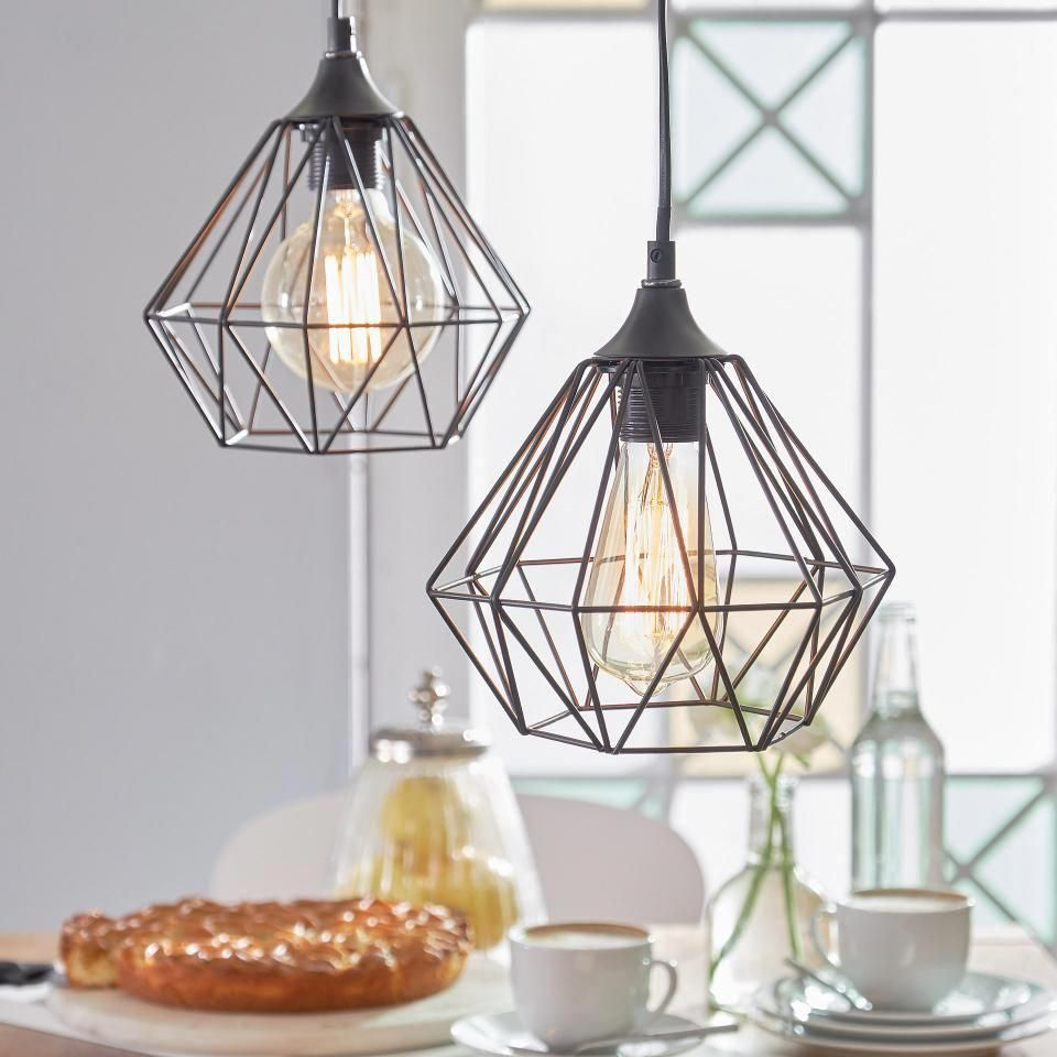 Pendant light black | Pendant lamp Nordic made of iron - Dänisches ...