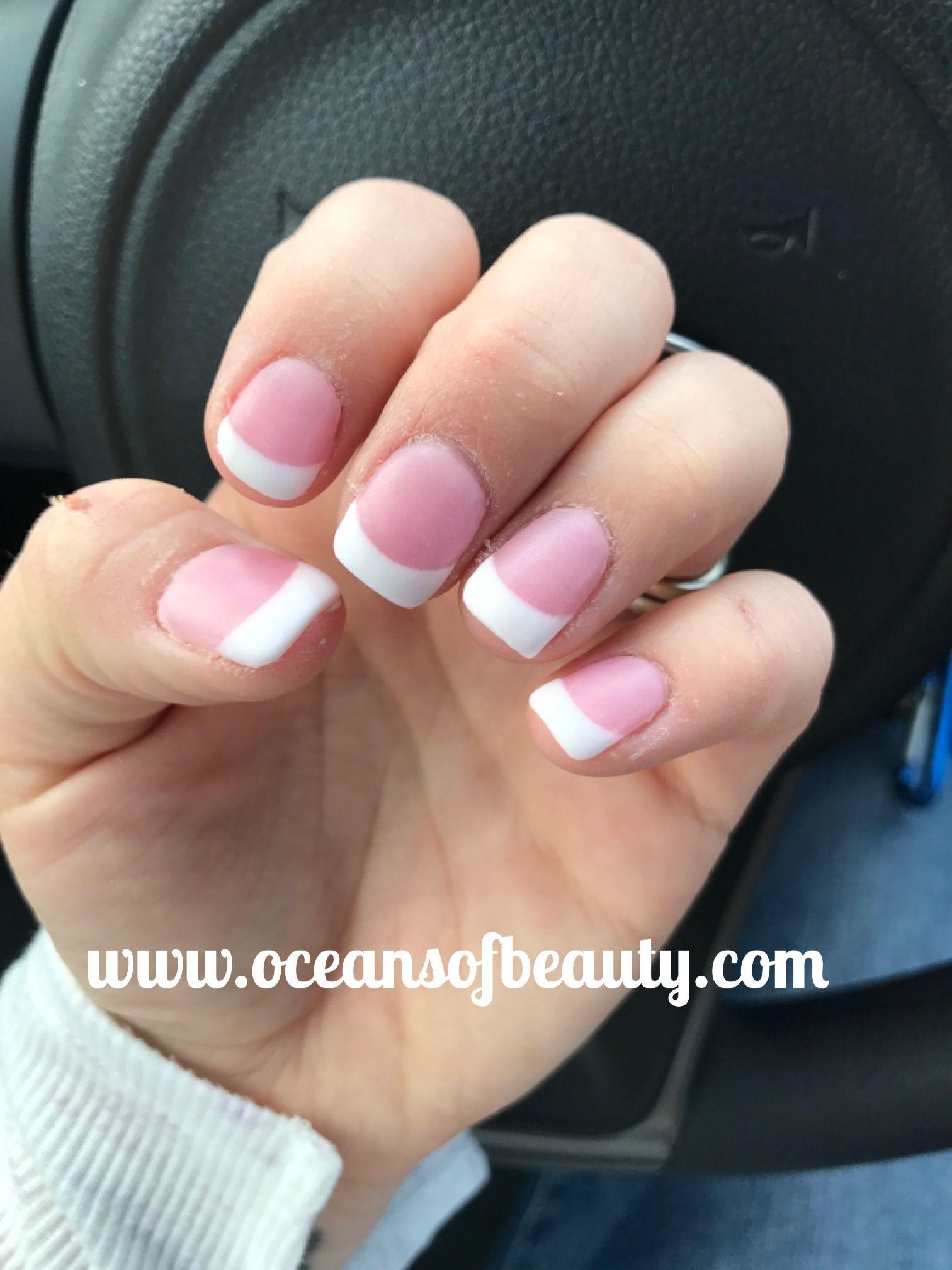 French White & Dark Pink EZdip Gel Powder with sparkles. DIY EZ Dip ...