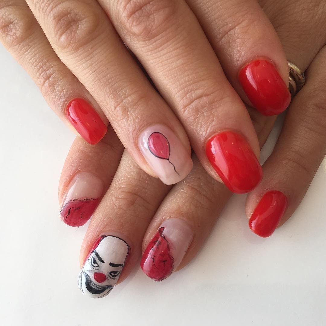 Creepy \'IT\' Nail Art - - NAILS Magazine | Nails | Pinterest | Nails ...
