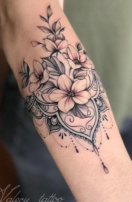 Tatuaggi Fiori Bianchi.Tatuaggi Per Avambraccio Femminile 150 Fantastiche Idee Per