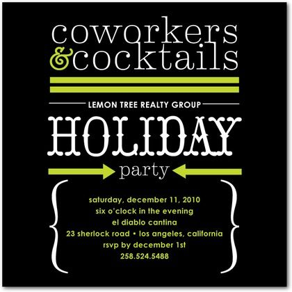 corporate holiday party invitations corporate cocktails front black corporate invitations. Black Bedroom Furniture Sets. Home Design Ideas