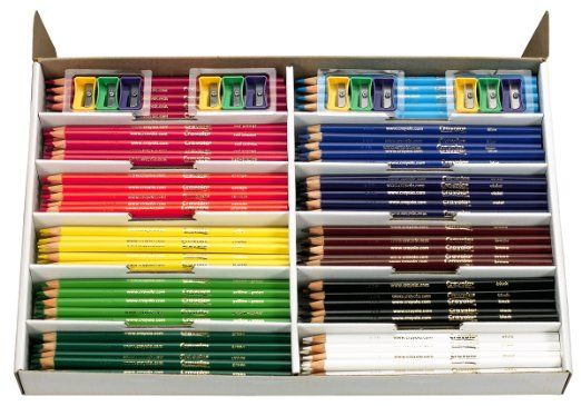 Amazon Com Crayola 240ct Colored Pencils Classpack 12 Colors