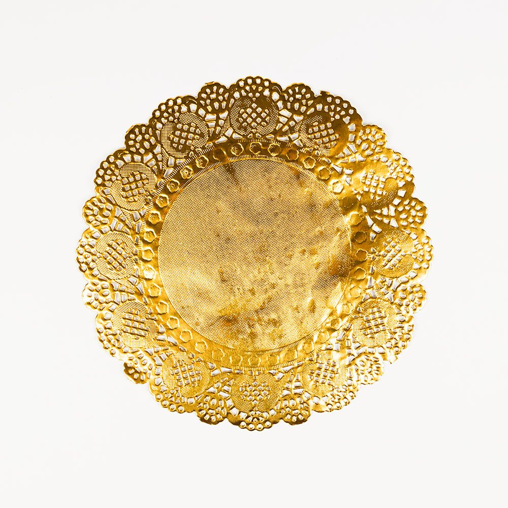 8 5 Round Gold Foil Doily Placemats Metallic 50 Pack Paper Lace Doilies Paper Doilies Colored Doilies