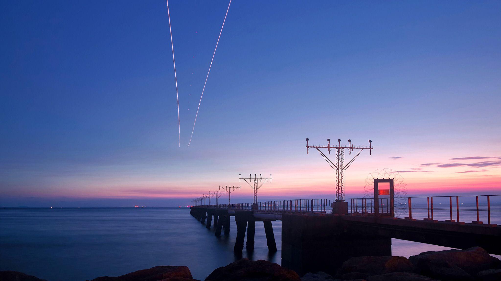 Pink Blue Sky 2048x1152 1080p, Fotos, Hd 1080p