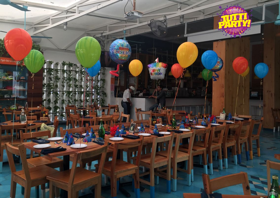 Restaurant birthday Party decorations surprise Party decorations
