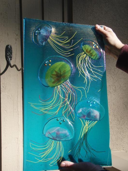 Dancing Jellyfish Delphi Artist Gallery Crafts Fused