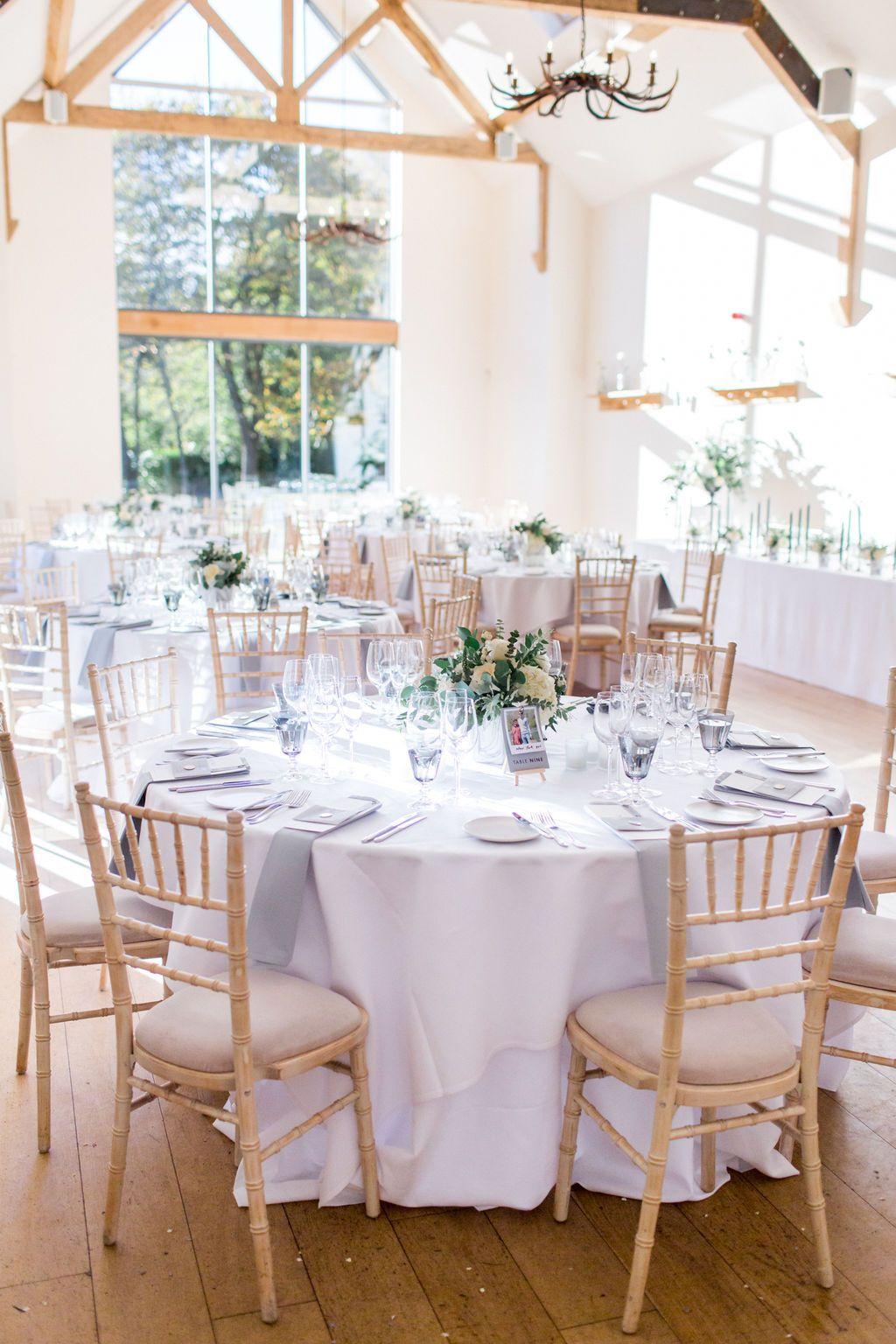Stunning Minimal Grey White Green Wedding Breakfast At Surrey Venue Millbridge: Grey White Wedding Venues At Websimilar.org