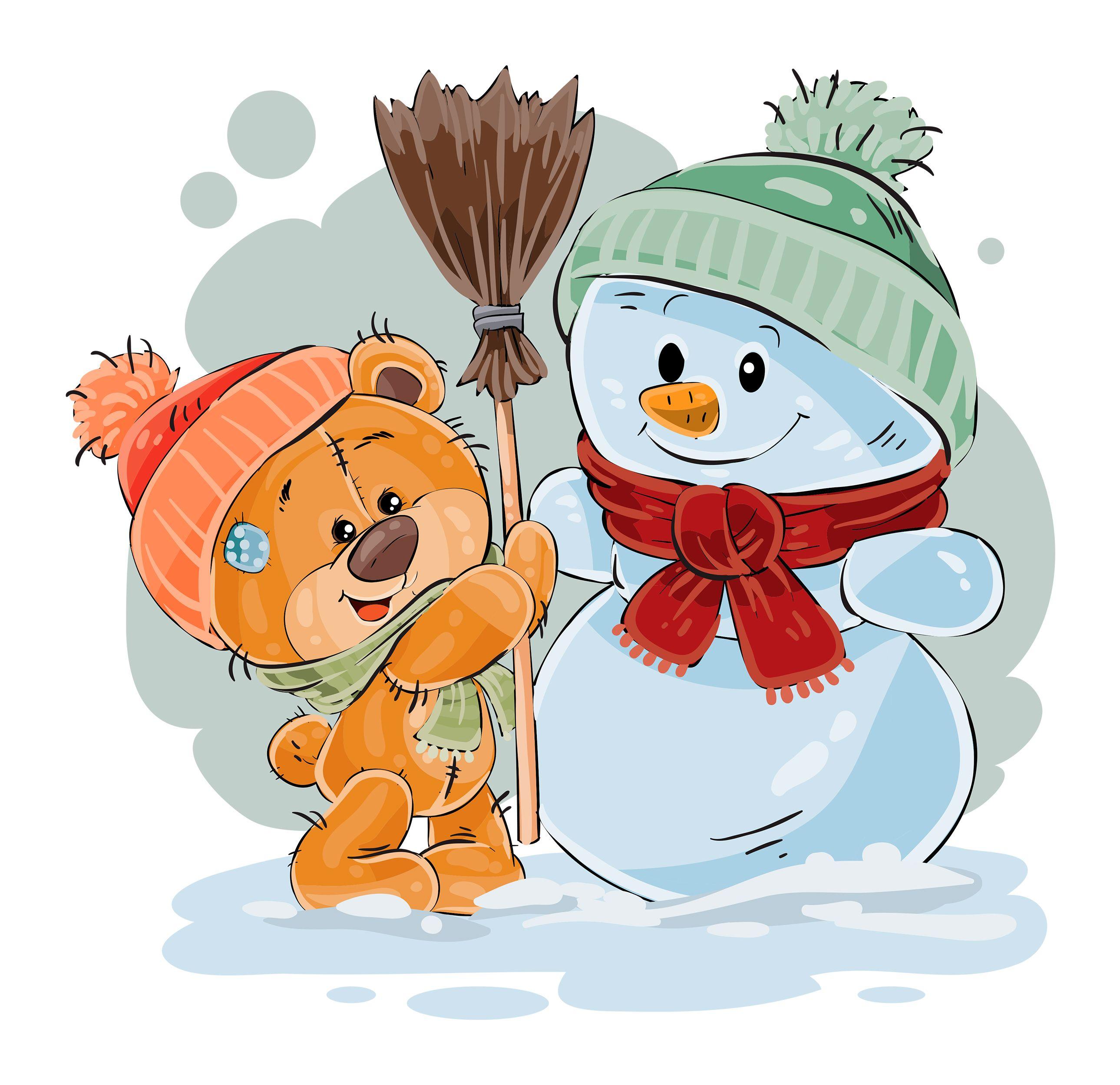 Милые картинки снеговиков