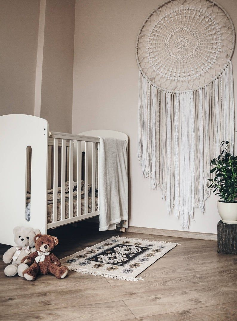 Large dreamcatcher, nursery dreamcatcher, dream catcher wall hanging -   19 diy Dream Catcher nursery ideas