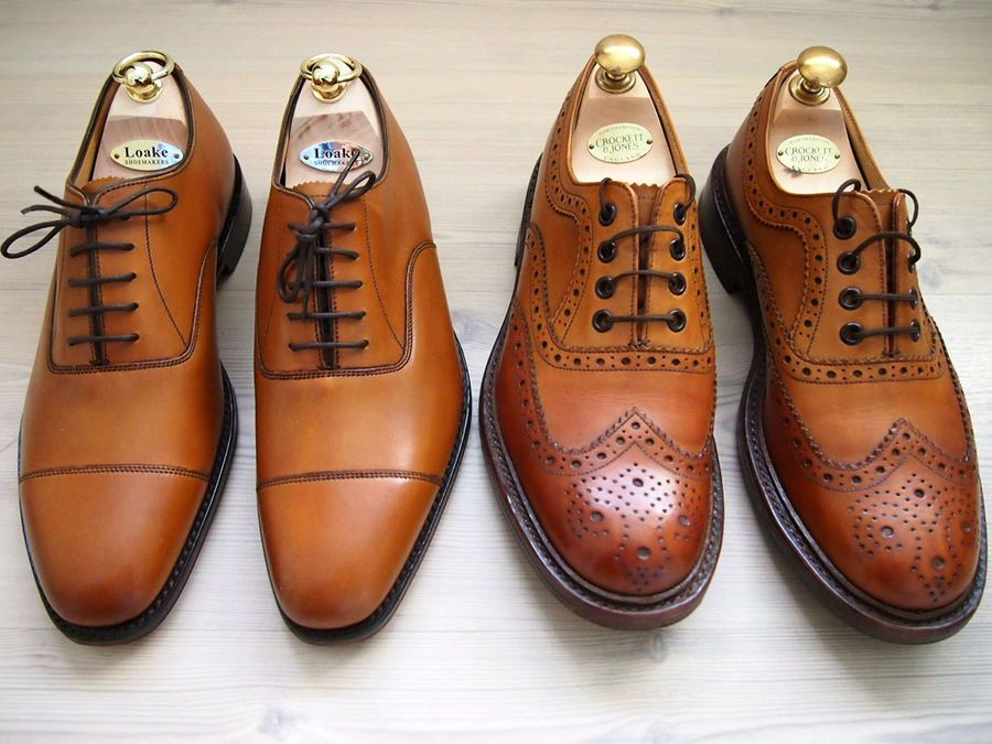 Loake Brown Leather Aldwych Oxford Shoes