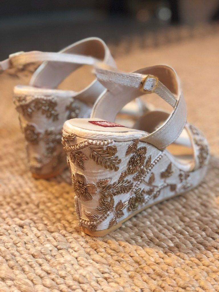 Where To Shop Wedding Shoes In India Frugal2fab Indian Wedding Shoes Bridal Sandals Heels Wedge Wedding Shoes