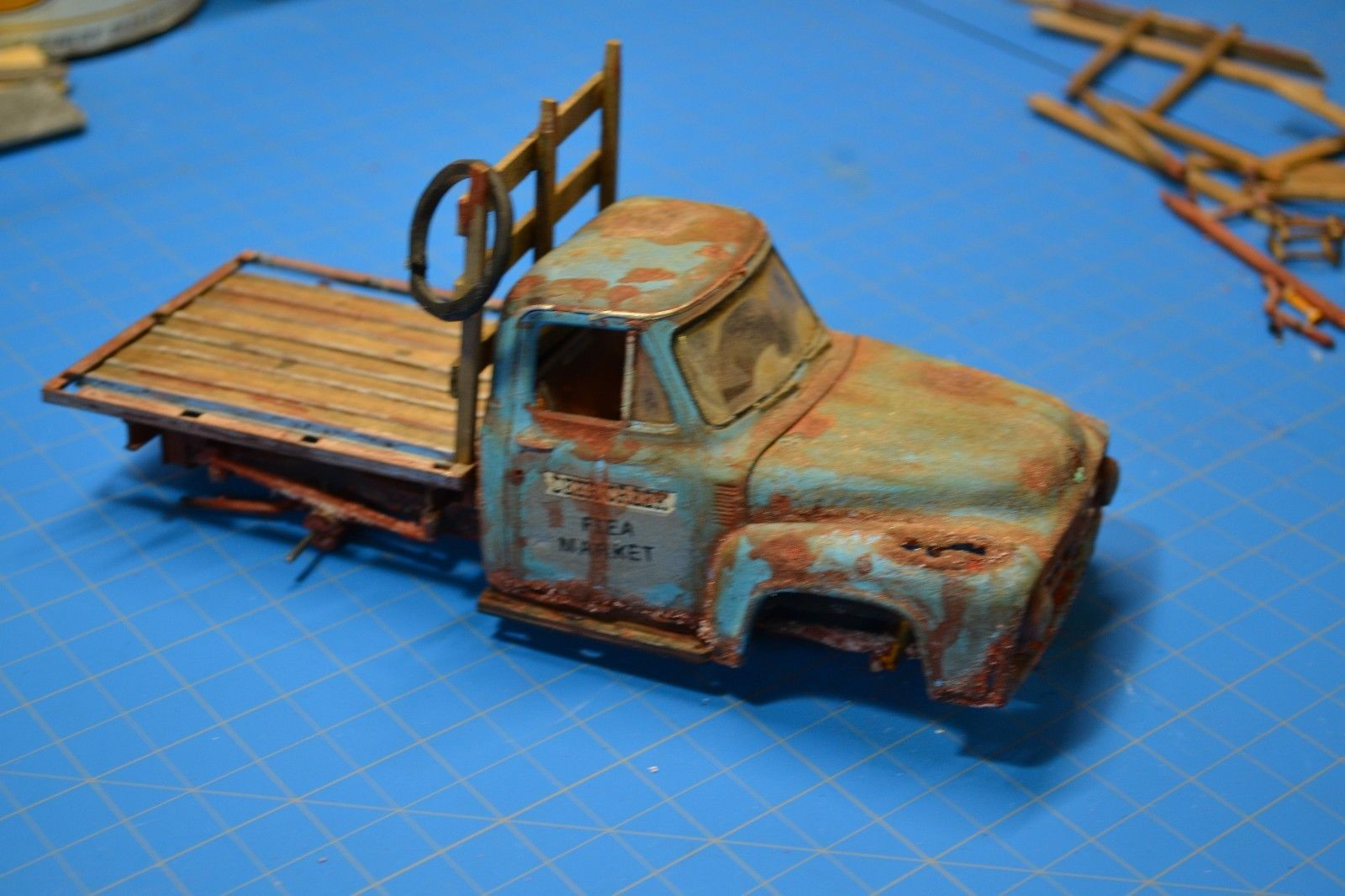 Pro built 1953 53 ford f100 pickup truck weathered detailed diorama flea market ebay