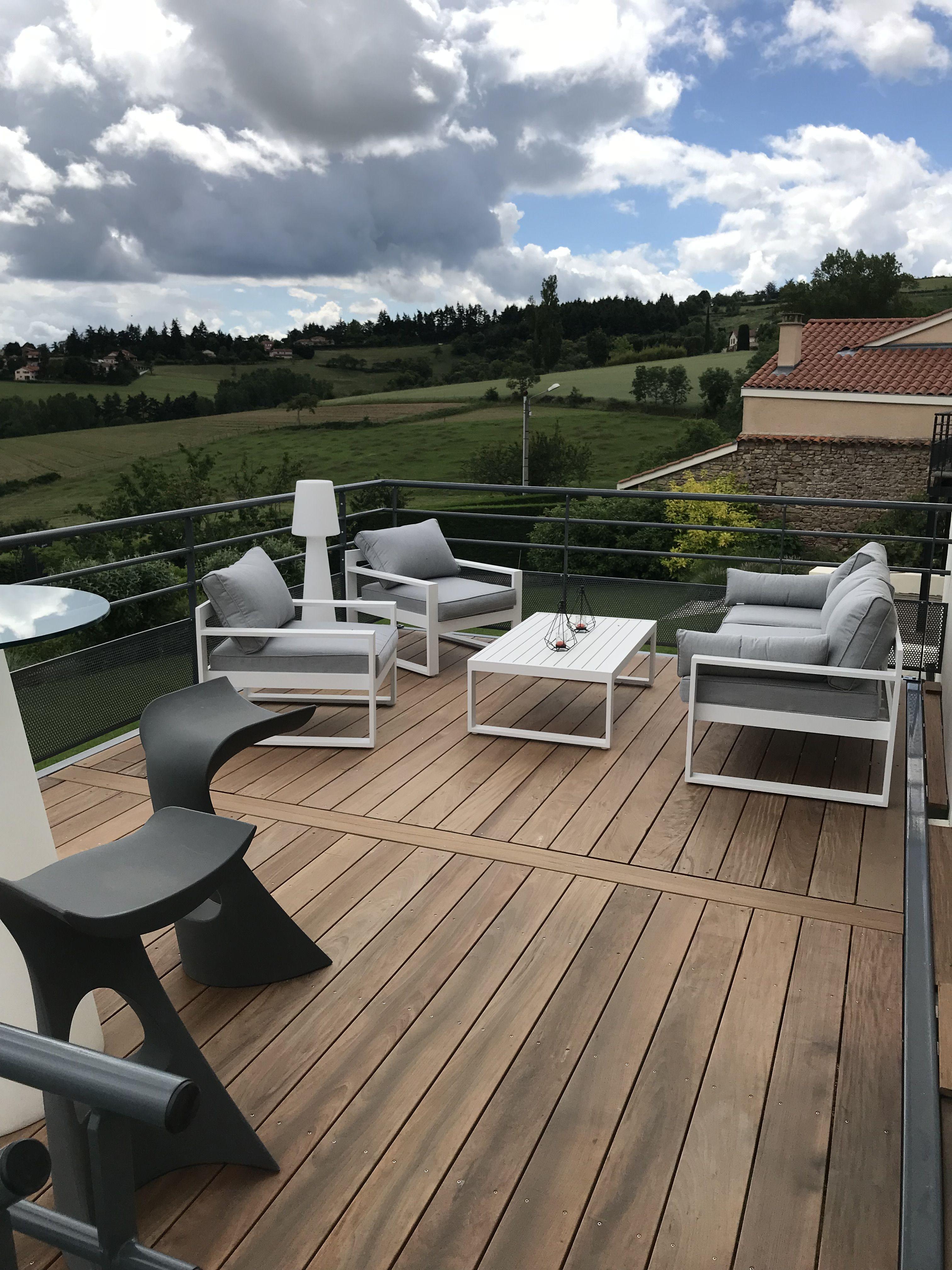 Plateforme Metallique Avec Plancher En Bois Exotique Terrasse