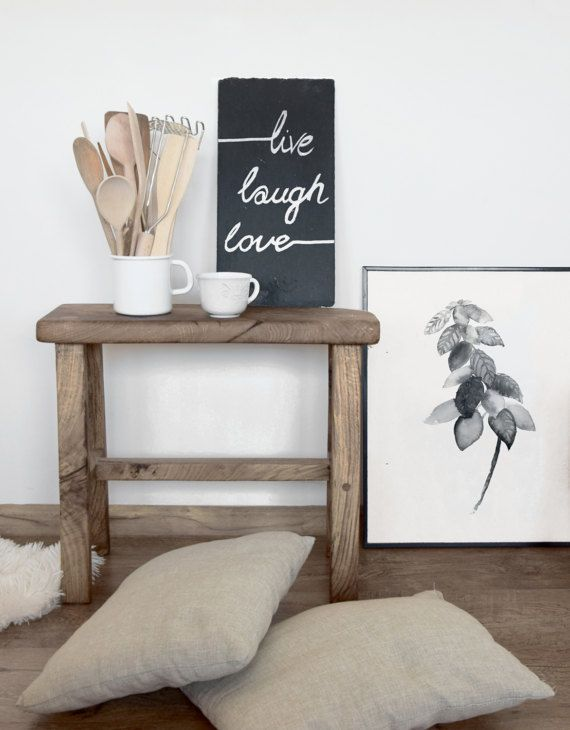 Basil Ilration Herbs And Es Kitchen Art Print Hygge