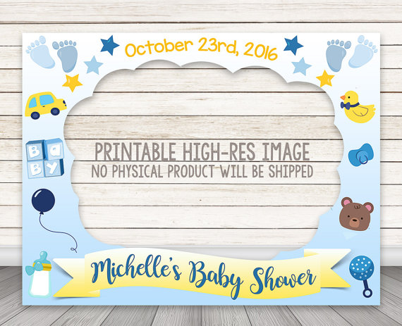 Boy Baby Shower Photo Booth Frame Baby Shower Photo Booth Prop