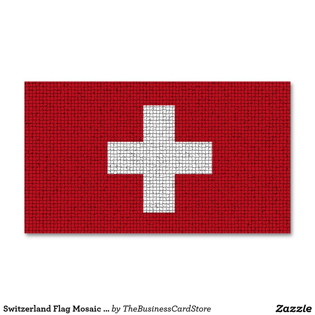 Switzerland flag mosaic tile effect business card world flags switzerland flag mosaic tile effect business card reheart Image collections