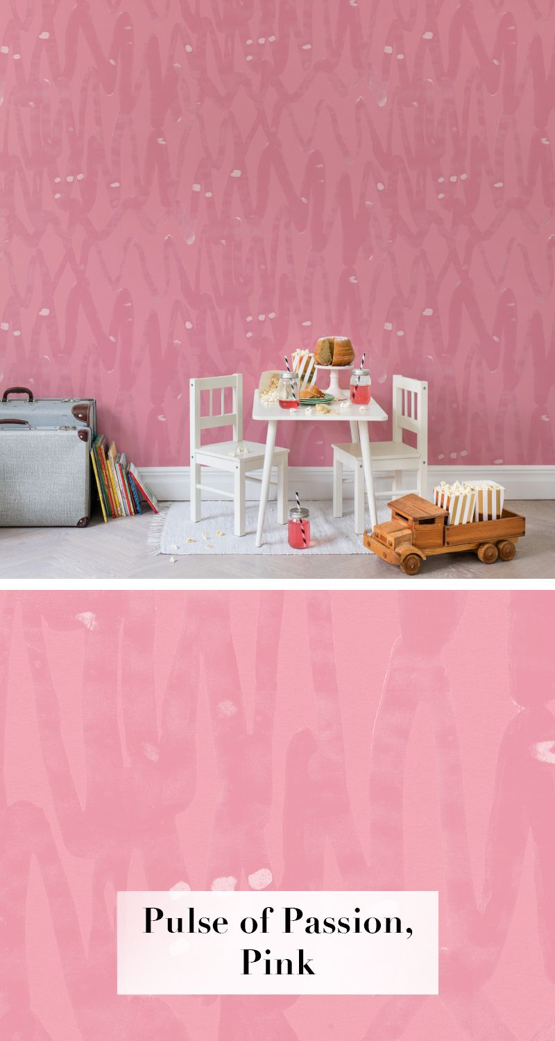 Pinke Schlafzimmer Pulse Of Passion Pink Tapetenkollektion Palette Pinterest