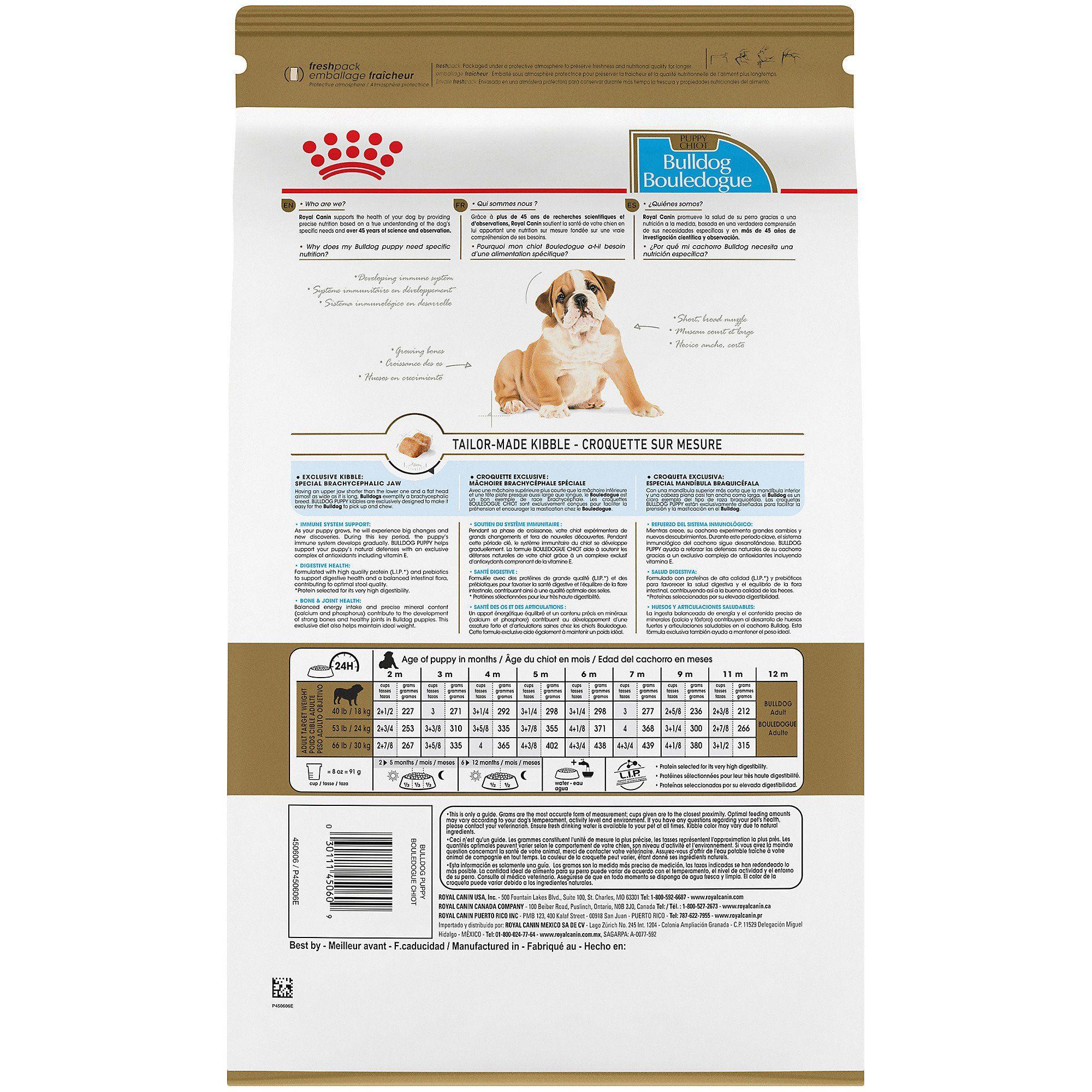 Royal Canin Breed Health Nutrition Bulldog Puppy Dry Dog Food 30