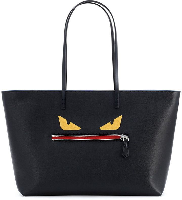 39c0fec67f Leather handbags are considered classic. Fendi Monster Tote Bag