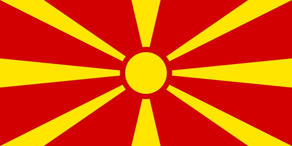 Macedonia Banderas De Europa Banderas De Todos Los Paises