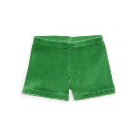Groene short velours - Mundo Melocoton