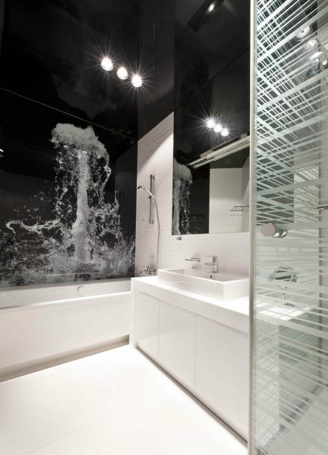 wohnideen badezimmer ohne fenster schwarz weiss fototapete wasser platsch bad isartal. Black Bedroom Furniture Sets. Home Design Ideas