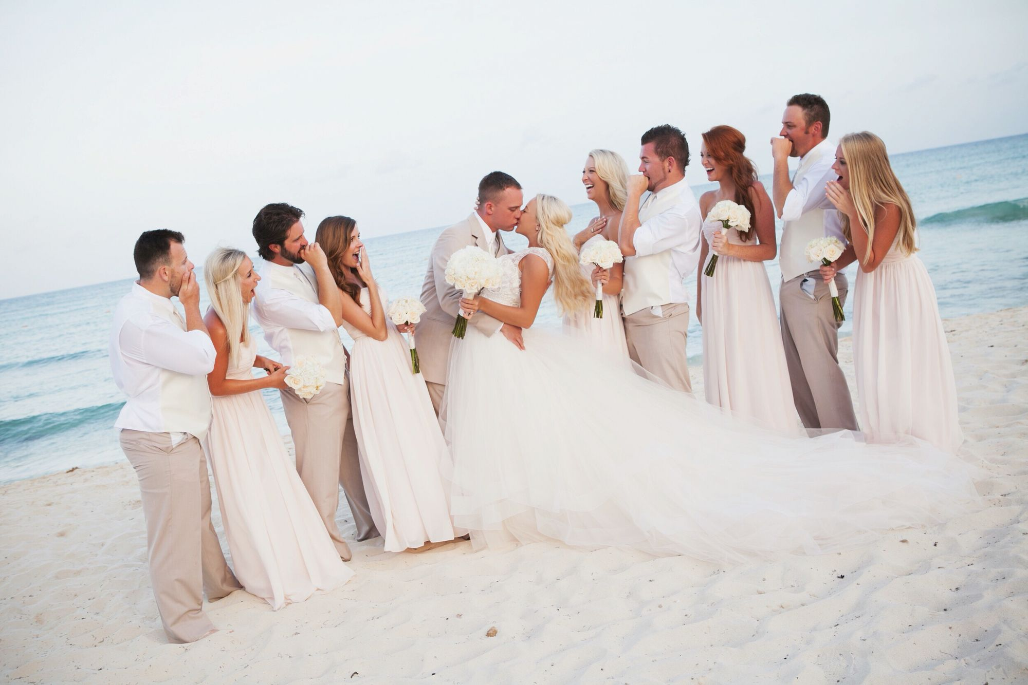 Nicole Polson Wedding Photos Now Jade Riviera Cancun Mexico Beach Wedding