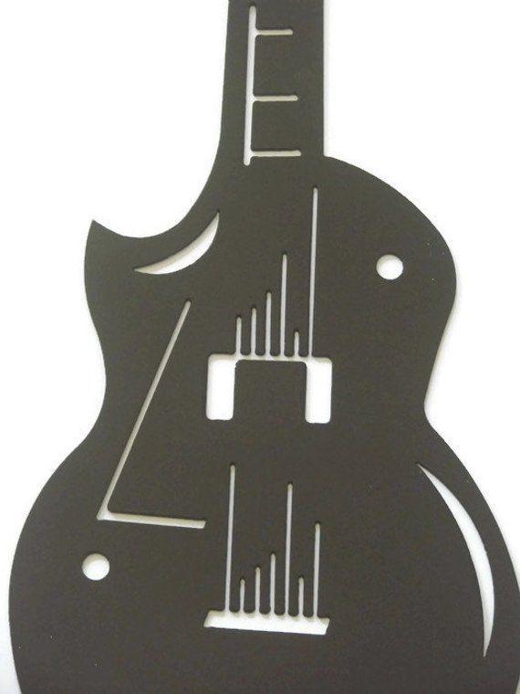 Les Paul Gibson Guitar 16 Gauge 24 1/2 inch Metal Wall Sculpture #gibsonguitars