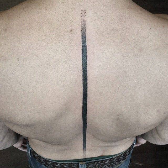 Black Line Spine Tattoo Black Line Spine Tattoo By Rudolf Tattooer Spine Tattoo Tattoos Line Tattoos