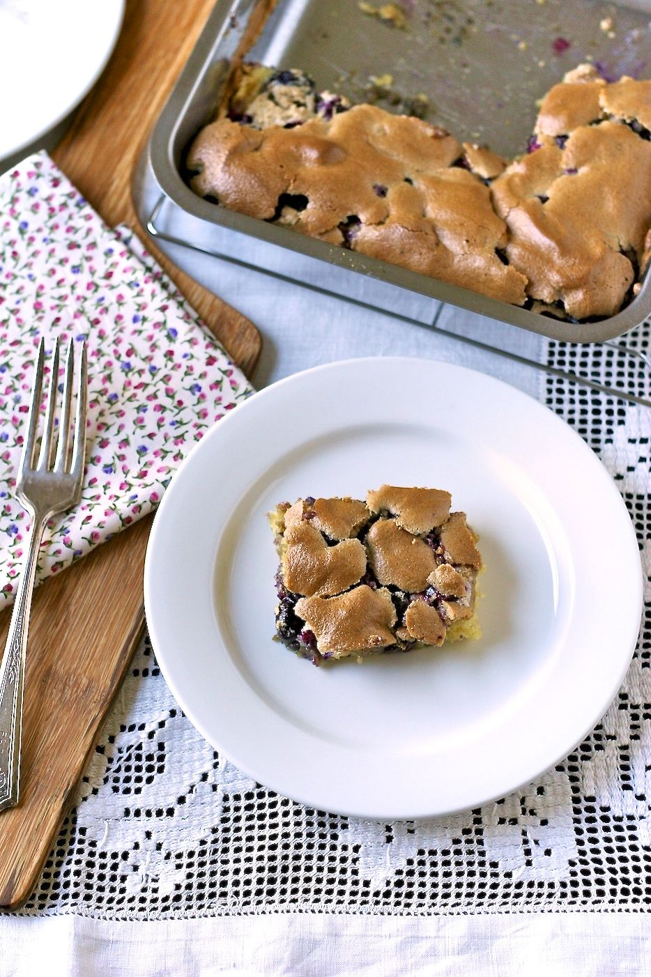 blueberry squares. My grandmother used to make! Delicious:)