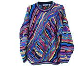 Beautiful Rainbow Coogi Inspired Sweater -Tundra - Cosby Biggie Snoop Multi-Colored Sweater sold at The Bearded Bee