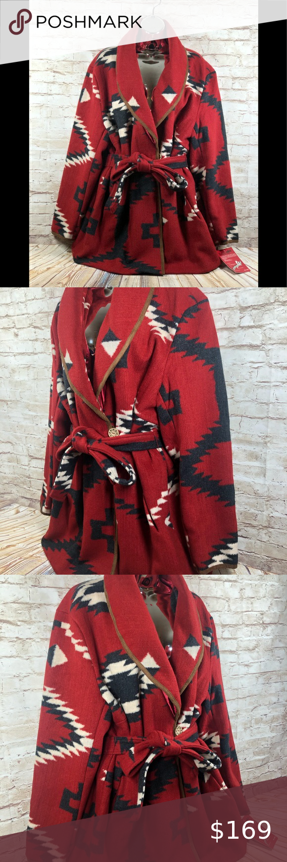 Black Mountain Western Aztec Blanket Coat Sz 1x Really Nice Great Color And Print Brick Red Black White Sz 1x Blanket Coat Clothes Design Jackets For Women [ 1740 x 580 Pixel ]