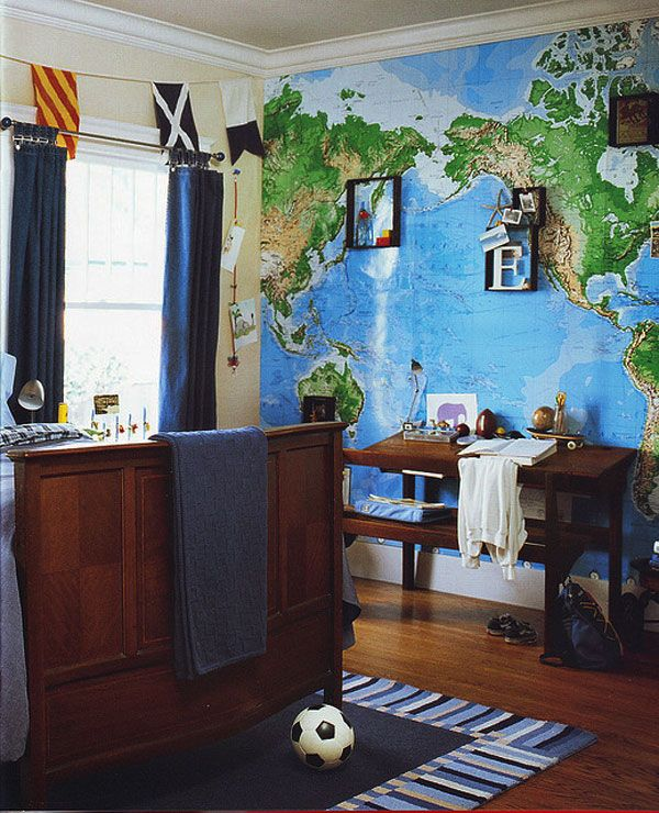 30 World Map Decorating Ideas Designdipassione Kid